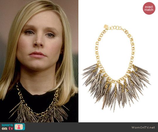 Ashley Pittman Grey Quill-Bead Necklace worn by Kristen Bell on House Of Lies