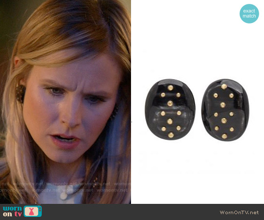 Ashley Pittman Dark Horn Tosha Earrings worn by Jeannie Van Der Hooven on House Of Lies