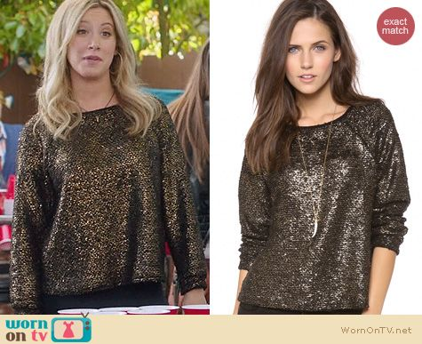 Ashley Tisdale Fashion: Alice + Olivia Mayer Sweater worn on The Crazy Ones