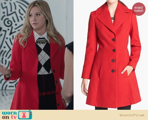 Ashley Tisdale Fashion: Robbi & Nikki Flared Coat worn on The Crazy Ones