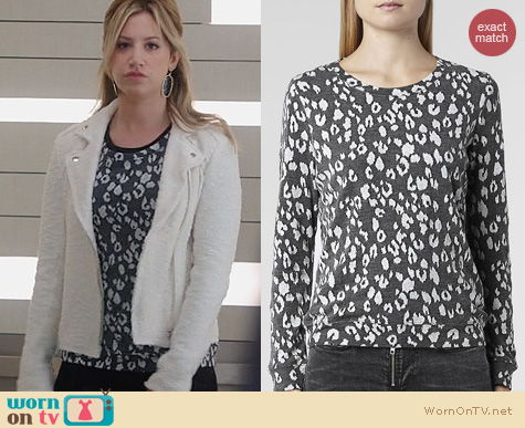 Ashley Tisdale Style: All Saints Yosa Sweat worn on The Crazy Ones