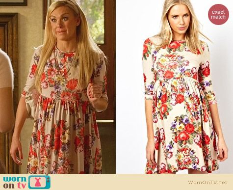 Asos Maternity Skater Dress With Slash Neck in Tapestry Floral worn by Shelby on Hart of Dixie