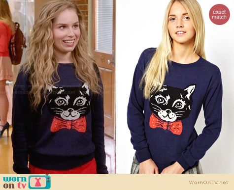 ASOS Clive The Cat Sweater worn by Allie Grant on Suburgatory