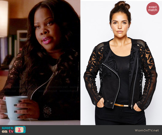 ASOS Curve Premium Lace Jacket worn by Amber Riley on Glee