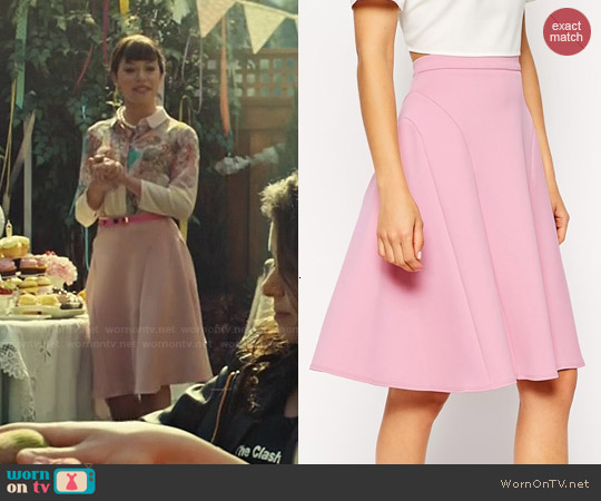 ASOS Midi Skirt With Seam Detail in Scuba worn by Tatiana Maslany on Orphan Black