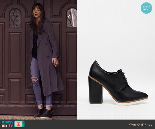 ASOS ON A ROLL Lace Up Heeled Shoes worn by Spencer Hastings on PLL