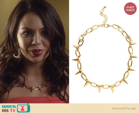 ASOS Spike Collar Necklace worn by Janel Parrish on PLL