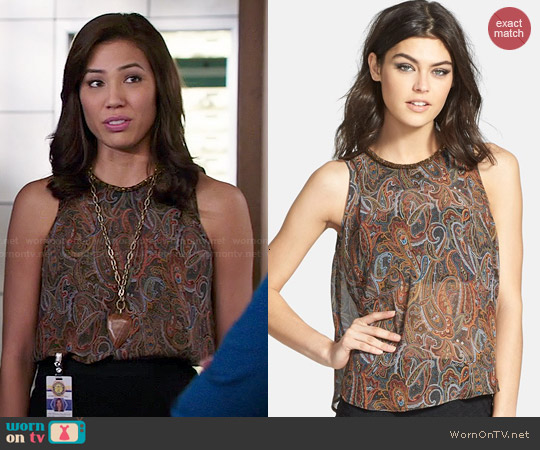 worn by Angela Montenegro (Michaela Conlin) on Bones