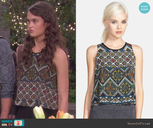 ASTR High Low Print Tank worn by True O'Brien on Days of our Lives