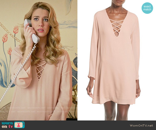 ASTR Lace-up Bell Sleeve Shift Dress worn by Yael Grobglas on Jane the Virgin
