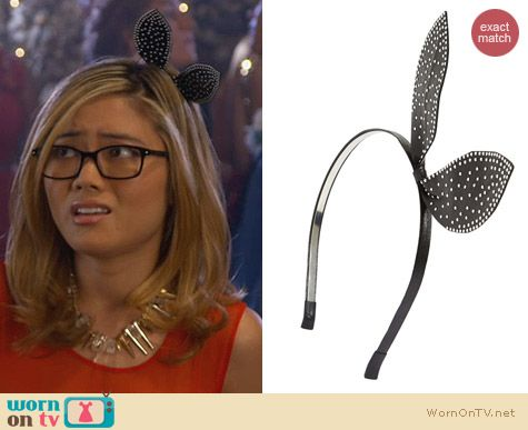 Awkward Fashion: Cara Studded Bunny Headband worn by Jessica Lu