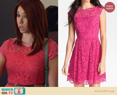Fashion of Awkward: Cynthia Steffe Pink Lace Dress worn by Jillian Rose Reed