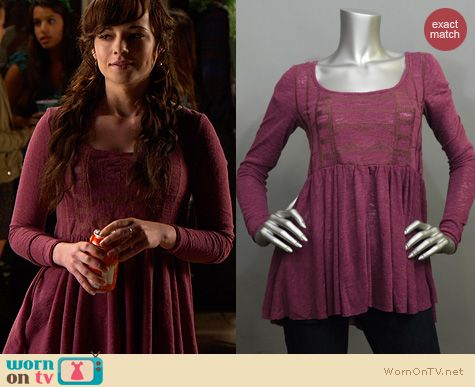 Awkward Fashion: Free People Justyna Top worn by Ashley Rickards