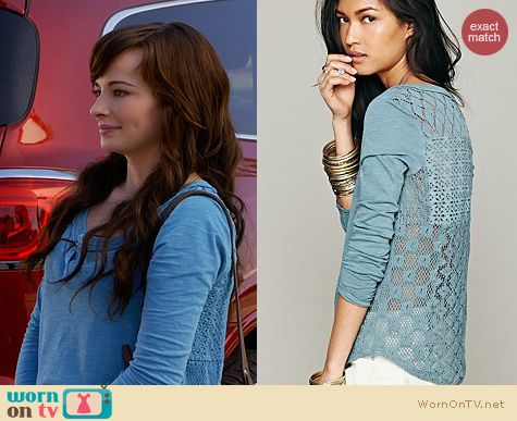 Awkward Fashion: Free People Patches of Lace Henley worn by Ashley Rickards