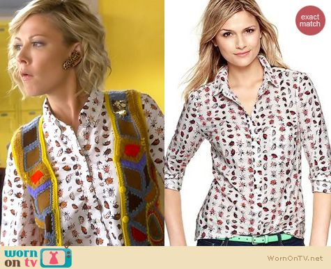 Awkward Fashion: Gap Ladybug print shirt worn by Desi Lydic