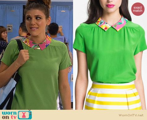 Fashion of Awkward: Kate Spade Tessa Silk Top worn by Molly Tarlov