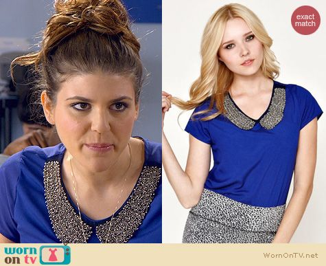 Awkward Fashion: Kirra Peter Pan Collar Shirt worn by Molly Tarlov