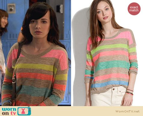 Fashion of Awkward: Madewell Studio Sweater in StripePop worn by Ashley Rickards