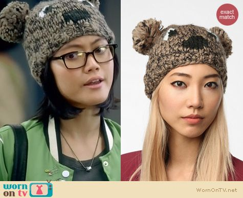 Awkward Fashion: Cooperative critter beanie at Urban Outfitters worn by Jessica Lu