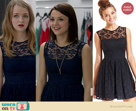 B Darlin Lace A-Line Dress worn by Kathryn Prescott on Finding Carter