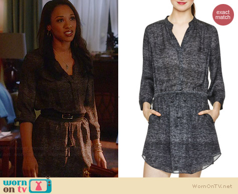 Babaton Bennett Dress in Black / Heather Grey worn by Candice Patton on The Flash