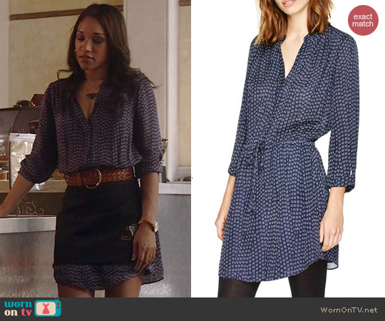 Babaton Bennett Dress in Navy/Ceramic worn by Candice Patton on The Flash