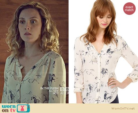 Babaton Bergen Blouse worn by Evelyne Brochu on Orphan Black