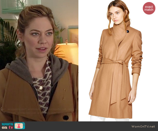Babaton Cristobal Coat in Constant Camel worn by Analeigh Tipton on Manhattan Love Story