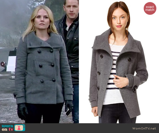Babaton Howell Coat in Grey worn by Jennifer Morrison on OUAT
