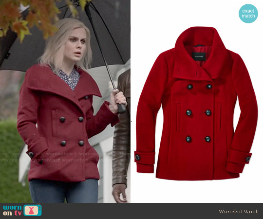 Babaton Howell Coat in Red worn by Rose McIver on iZombie