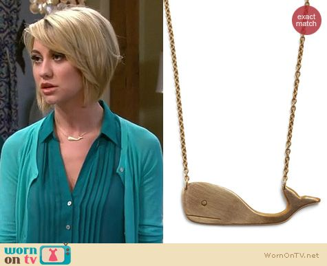 Baby Daddy Fashion: ModCloth Thinking A Spout You Necklace worn by Chelsea Kane