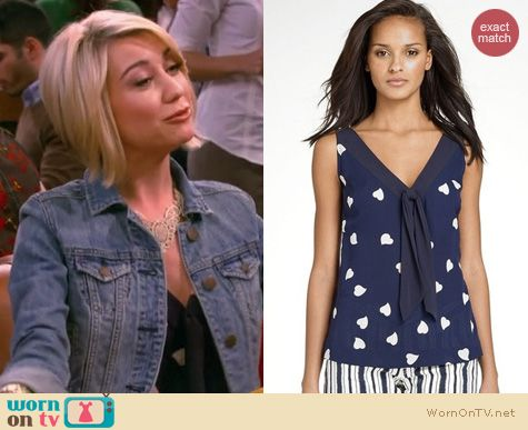 Baby Daddy Fashion: Tory Burch Jaquetta Blouse worn by Chelsea Kane