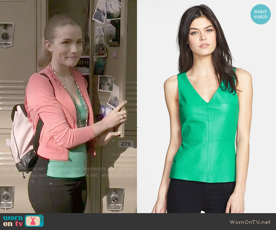 Bailey 44 Planetoid Perforated Leather Top worn by Willa Fitzgerald on Scream