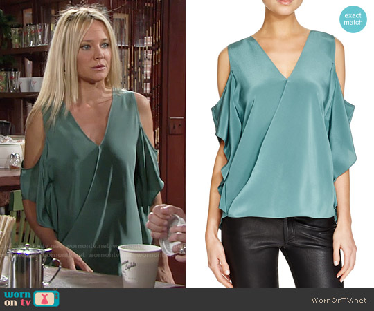 Bailey 44 Azalea Top worn by Sharon Case on The Young & the Restless