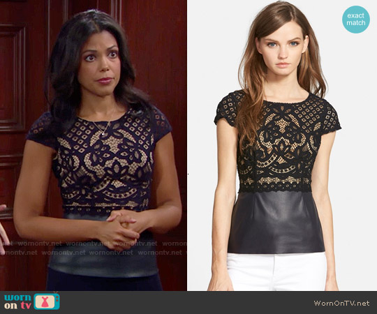 Bailey 44 Daffodil Top worn by Karla Mosley on The Bold & the Beautiful