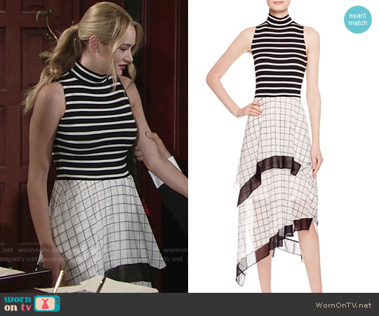 Bailey 44 Disrupted Dress worn by Hunter King on The Young & the Restless