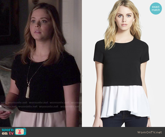Bailey 44 Drop Shop Underlay Top worn by Sasha Pieterse on PLL