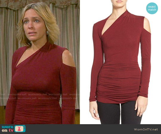 Bailey 44 'Expressionist' Cutout Long Sleeve Top worn by Arianne Zucker on Days of our Lives