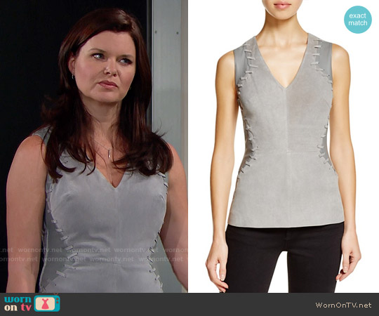 Bailey 44 'Hercules' Mixed Media Top worn by Heather Tom on The Bold & the Beautiful