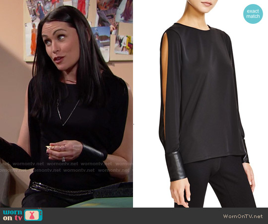 Bailey 44 Hutton Top worn by Rena Sofer on The Bold & the Beautiful