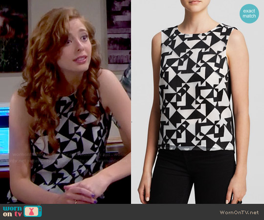 Bailey 44 Jigsaw Print Top worn by Ashlyn Pearce on The Bold & the Beautiful