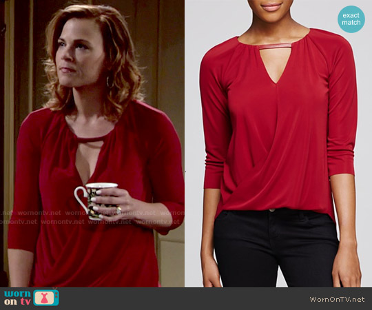 Bailey 44 Lisianthus Top worn by Gina Tognoni on The Young & the Restless
