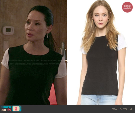 Bailey 44 Lodge Top worn by Lucy Liu on Elementary