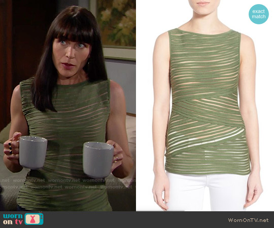Bailey 44 'Pangea' Top in Olive worn by Rena Sofer on The Bold & the Beautiful