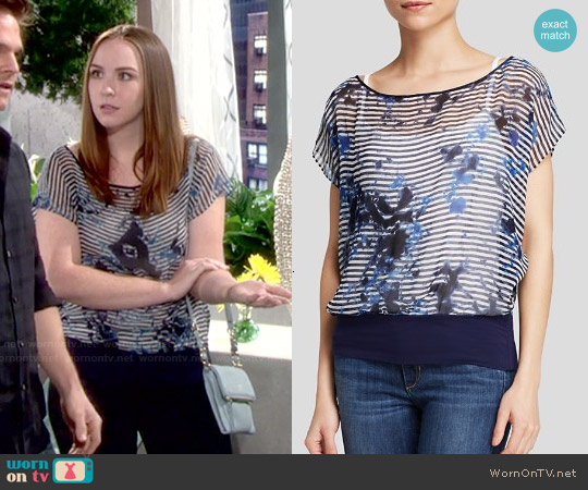 Bailey 44 Sea Breeze Top worn by Camryn Grimes on The Young & the Restless