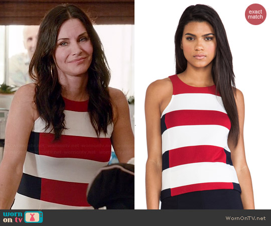 Bailey 44 Split T Top worn by Courtney Cox on Cougar Town