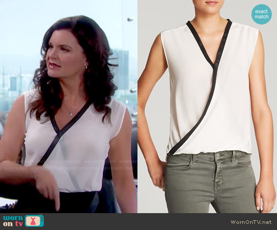 Bailey 44 Wildebeest Sleeveless Silk Top worn by Heather Tom on The Bold & the Beautiful