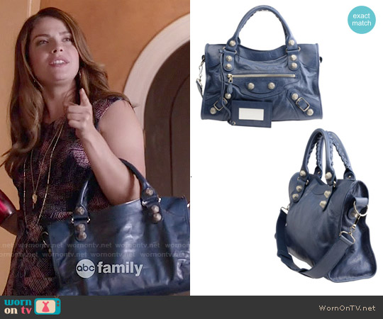 Balenciaga City Leather Bag worn by Audrey Pitagorski on Kevin from Work