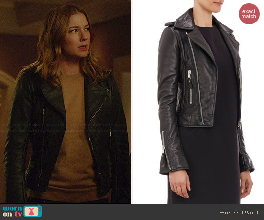 Balenciaga Classic Moto Jacket worn by Emily VanCamp on Revenge