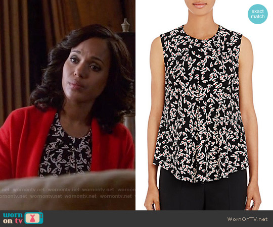 Balenciaga Drape Front Top worn by Kerry Washington on Scandal